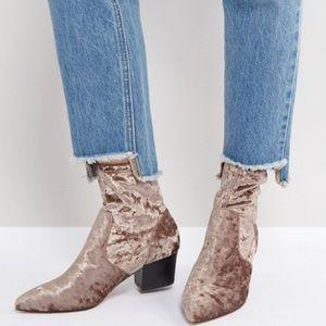 ASOS Velvet Point Sock Boots